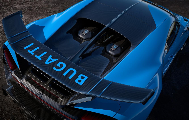 Photo wallpaper Bugatti, spoiler, hypercar, Chiron, 2020, Pur Sport