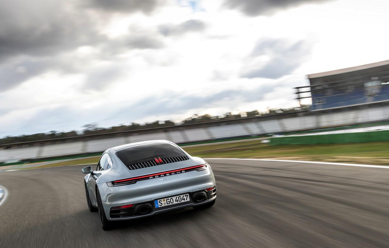 Photo wallpaper movement, coupe, track, 911, Porsche, Carrera 4S, 992, 2019