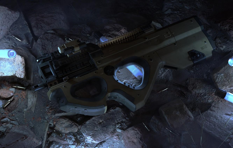 Photo wallpaper weapons, weapon, render, gun machine gun, smg, mashin pistol, P20