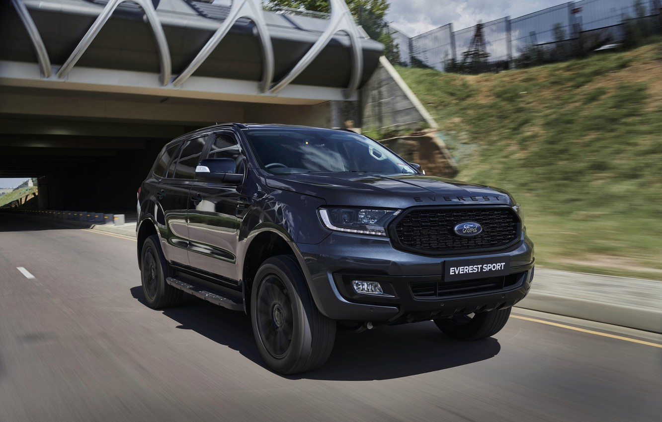 Photo wallpaper road, Ford, Sport, Everest, 4WD, 2021