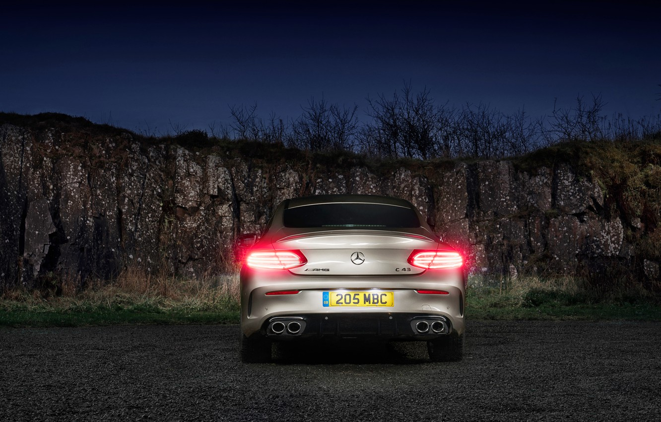 Photo wallpaper Mercedes-Benz, AMG, Coupe, 2018, 4MATIC, C43