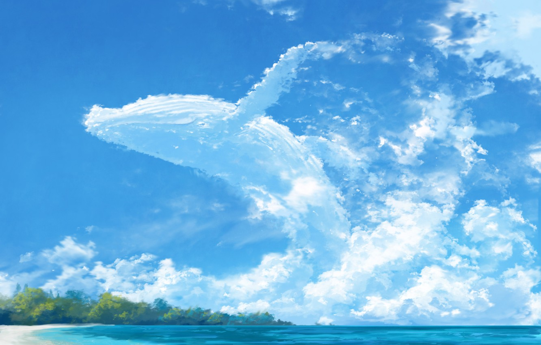 Photo wallpaper sea, summer, the sky, cloud kit