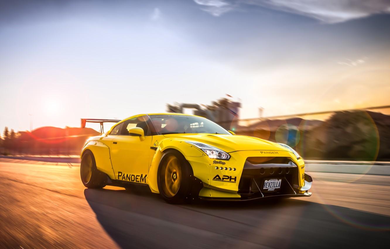Photo wallpaper tuning, speed, Nissan, GT-R, tuning, Liberty Walk, Pandem