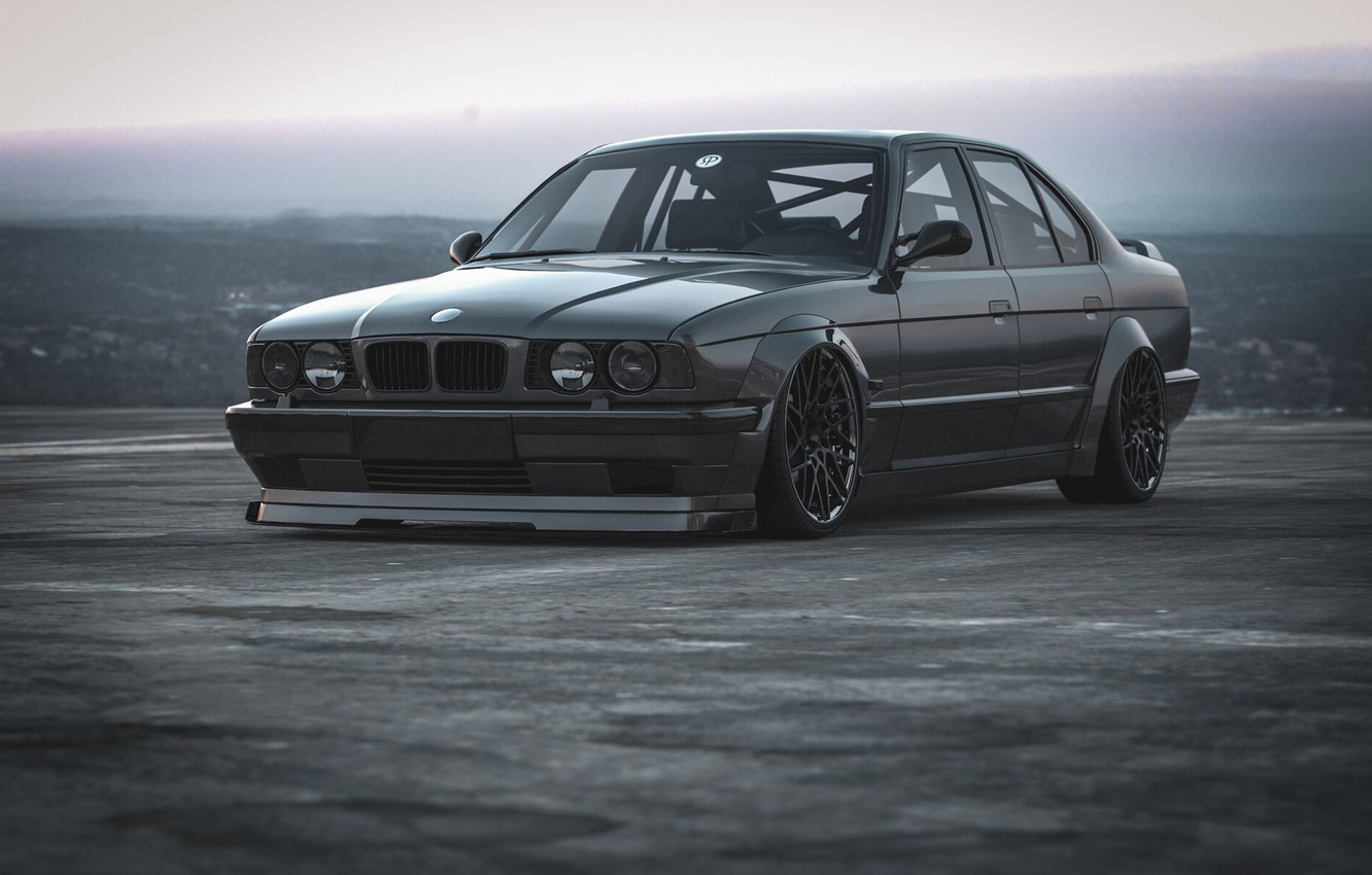 Photo wallpaper Auto, BMW, Machine, Rendering, Transport & Vehicles, Rostislav Prokop, by Rostislav Prokop, E34 M5