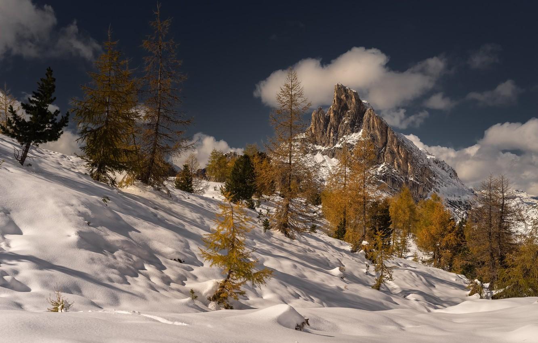 Photo wallpaper autumn, mountains, nature