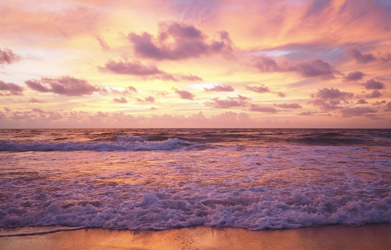 Wallpaper Sand Sea Wave Beach Summer Sunset Summer Beach