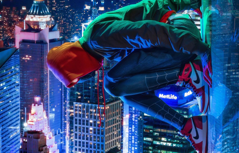 Wallpaper New York Comics Spider Man Miles Morales Ultimate