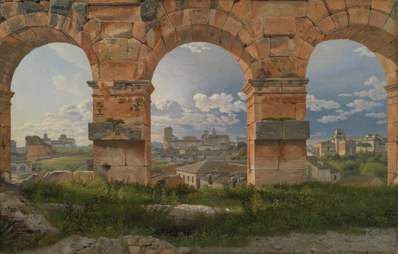 Photo wallpaper Danish painter, Statens Museum for Kunst, Danish painter, 1815, oil on canvas, Statens Museum for …