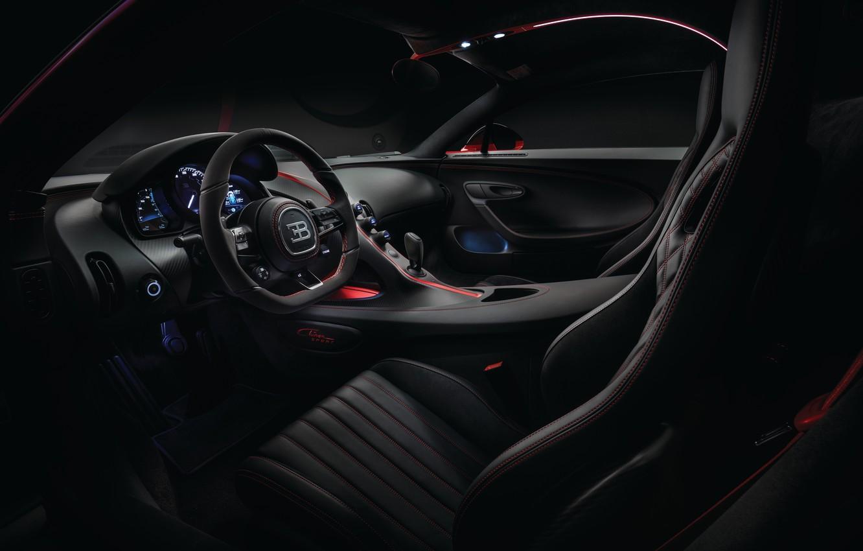 Photo wallpaper Bugatti, salon, 2018, Sport, Chiron