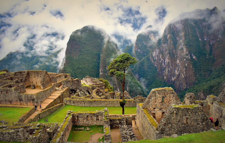 Photo wallpaper mountains, ruins, Peru, Machu Picchu