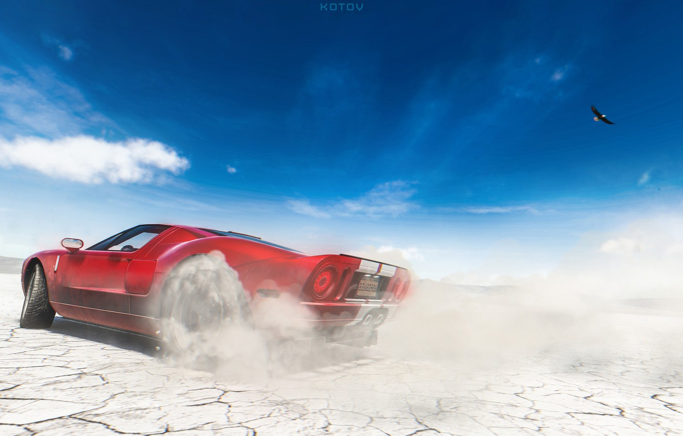 Photo Wallpaper Ford Red Auto Machine Ford Gt Art Supercar