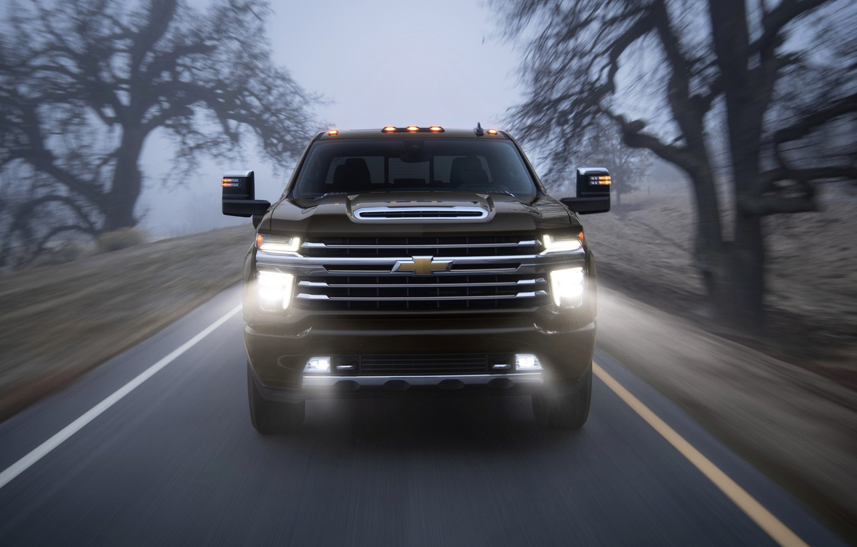 Photo wallpaper fog, Chevrolet, pickup, Silverado, High Country, 2020, 2500 Heavy Duty