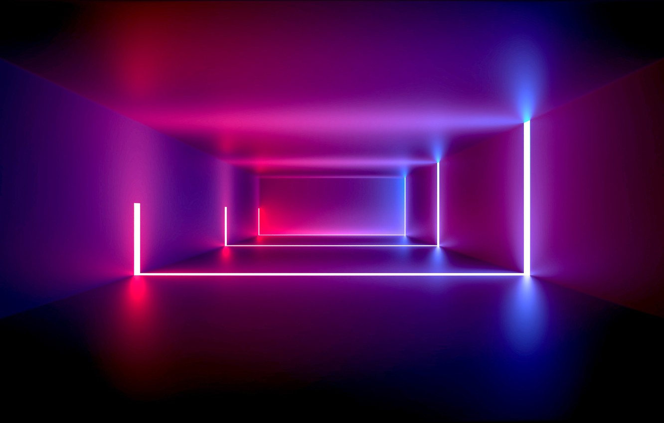 Wallpaper Design Neon Abstract Light Design Background