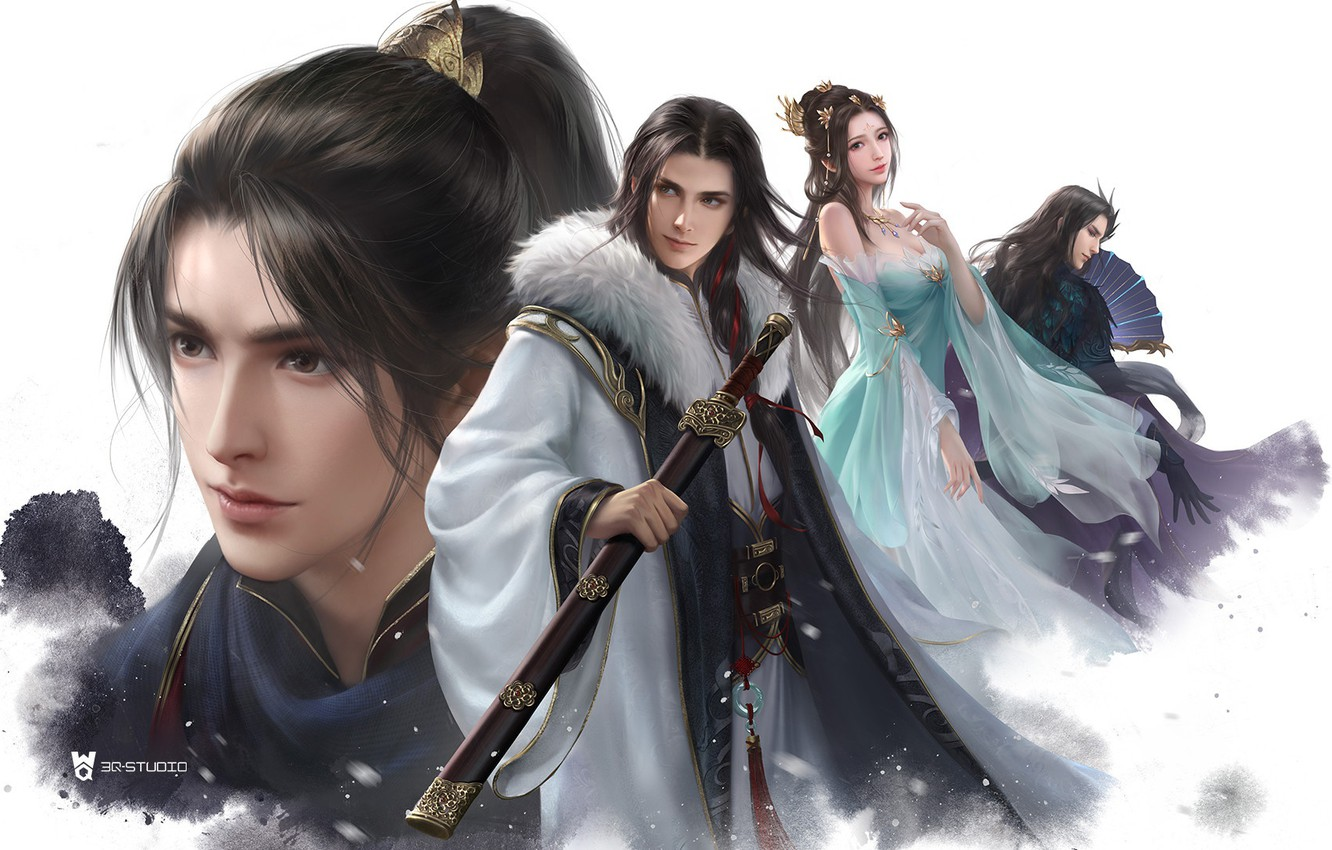 Photo wallpaper the game, fantasy, art, heroes, li miao, Snow Hawk Lords multiplayer campaigns
