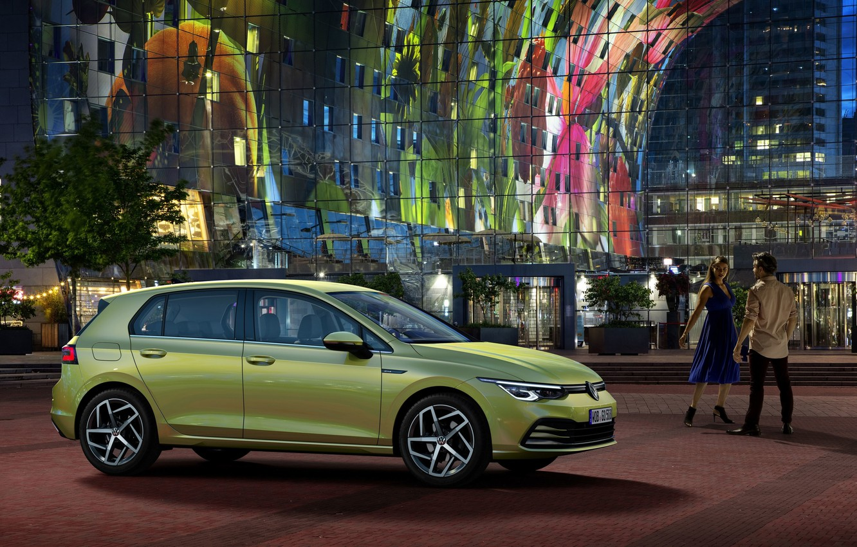 Photo wallpaper Volkswagen, hatchback, Golf, Holland, Netherlands, Volkswagen, Golf, hatchback, Rotterdam, Rotterdam, compact car, 2020, VW Golf, …