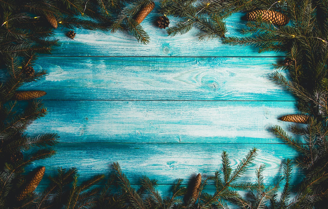 Photo wallpaper background, tree, Board, tree, New Year, Christmas, Christmas, bumps, wood, blue, background, New Year, decoration, …