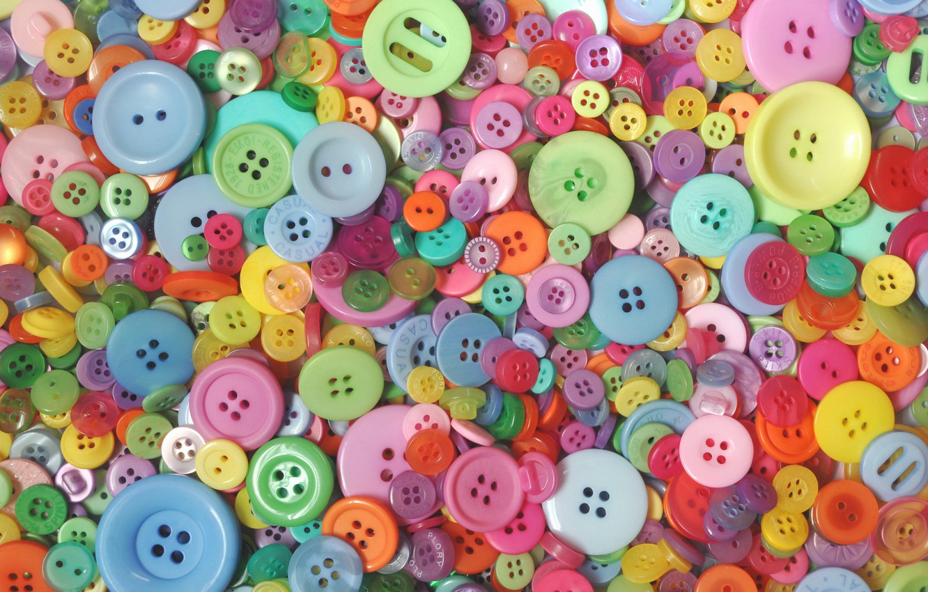 Photo wallpaper macro, buttons, colorful