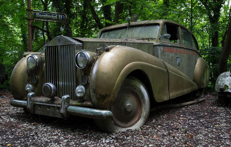 Photo wallpaper Rolls-Royce, scrap, Silver Wraith