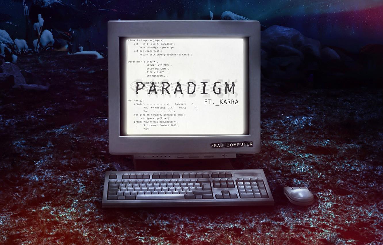 Photo wallpaper Music, Cover, Monstercat, Bad Computer, Karra, Paradigm