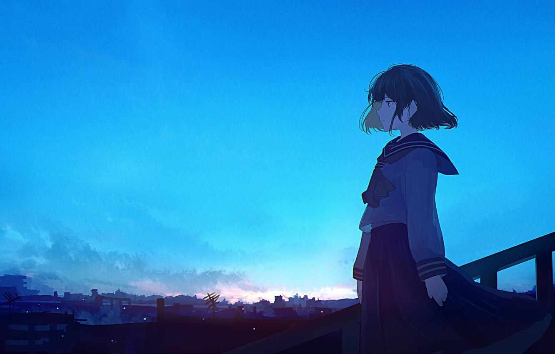 Wallpaper blue, anime, waifu, Director images for desktop ...