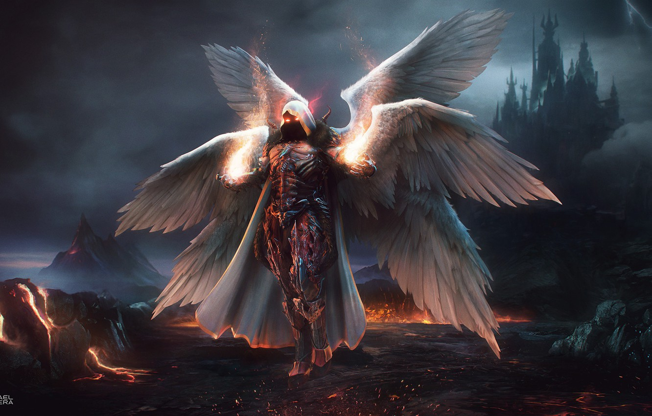 Photo wallpaper Fantasy, Blizzard, Art, Diablo 3, Diablo, Angel, Concept Art, Archangel, Auriel, Character, The Daemon Auriel
