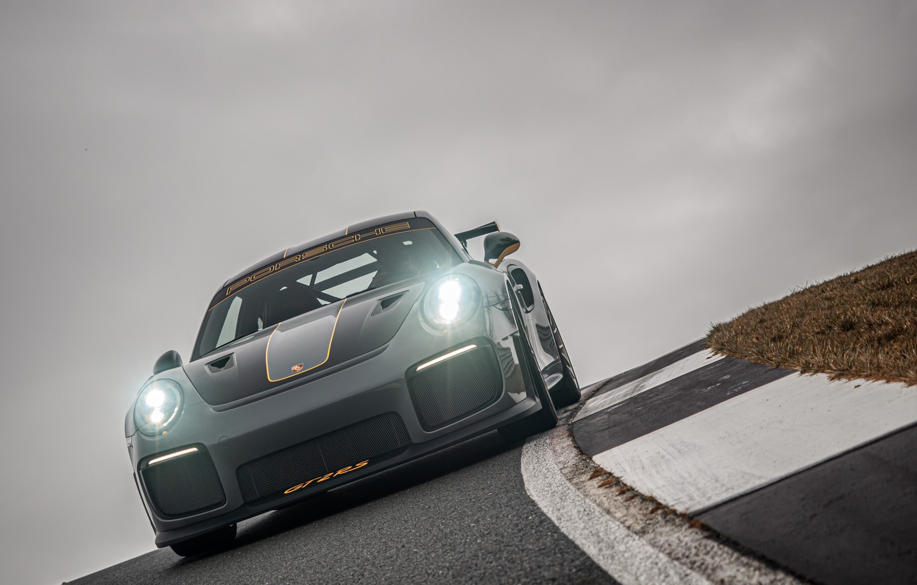 Photo wallpaper overcast, lights, 911, Porsche, racing track, GT2 RS, 991, Edo Competition, 2020