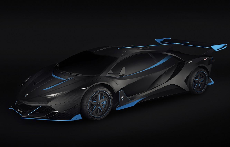 Photo wallpaper Auto, Lamborghini, Car, Render, Supercar, Night, Aventador, Lamborghini Aventador, Rendering, Supercar, Concept Art, Sportcar, Encho …