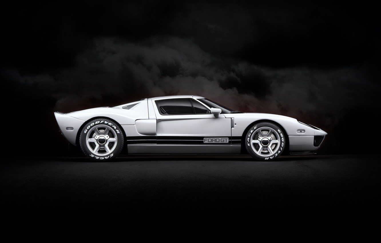 Photo wallpaper white, background, art, Ford GT, sports car