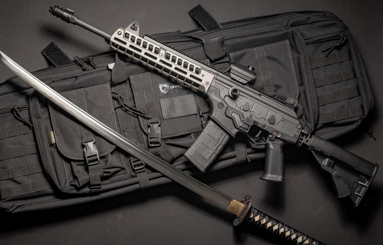 Wallpaper Weapons Sword Sword Machine Gun Weapon