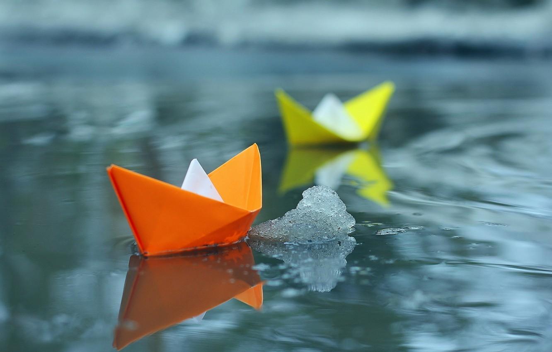 Photo wallpaper water, photo, boats