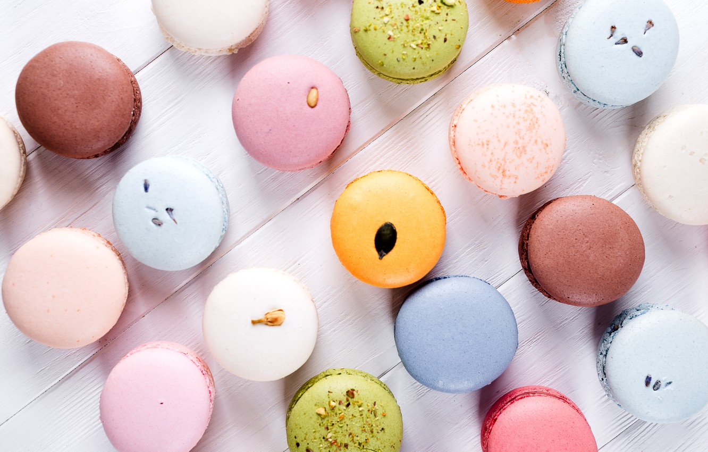 Photo wallpaper colorful, french, macaron, macaroon