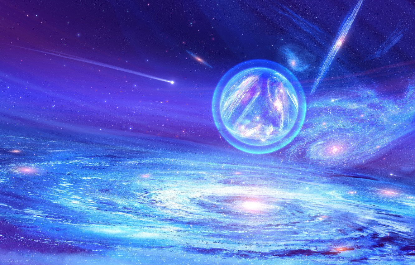 Wallpaper Galaxy Stars Space Nebula The Universe Ball Fantasy Art Stars Space Art Galaxy Universe Fiction Nebula Fiction Images For Desktop Section Kosmos Download