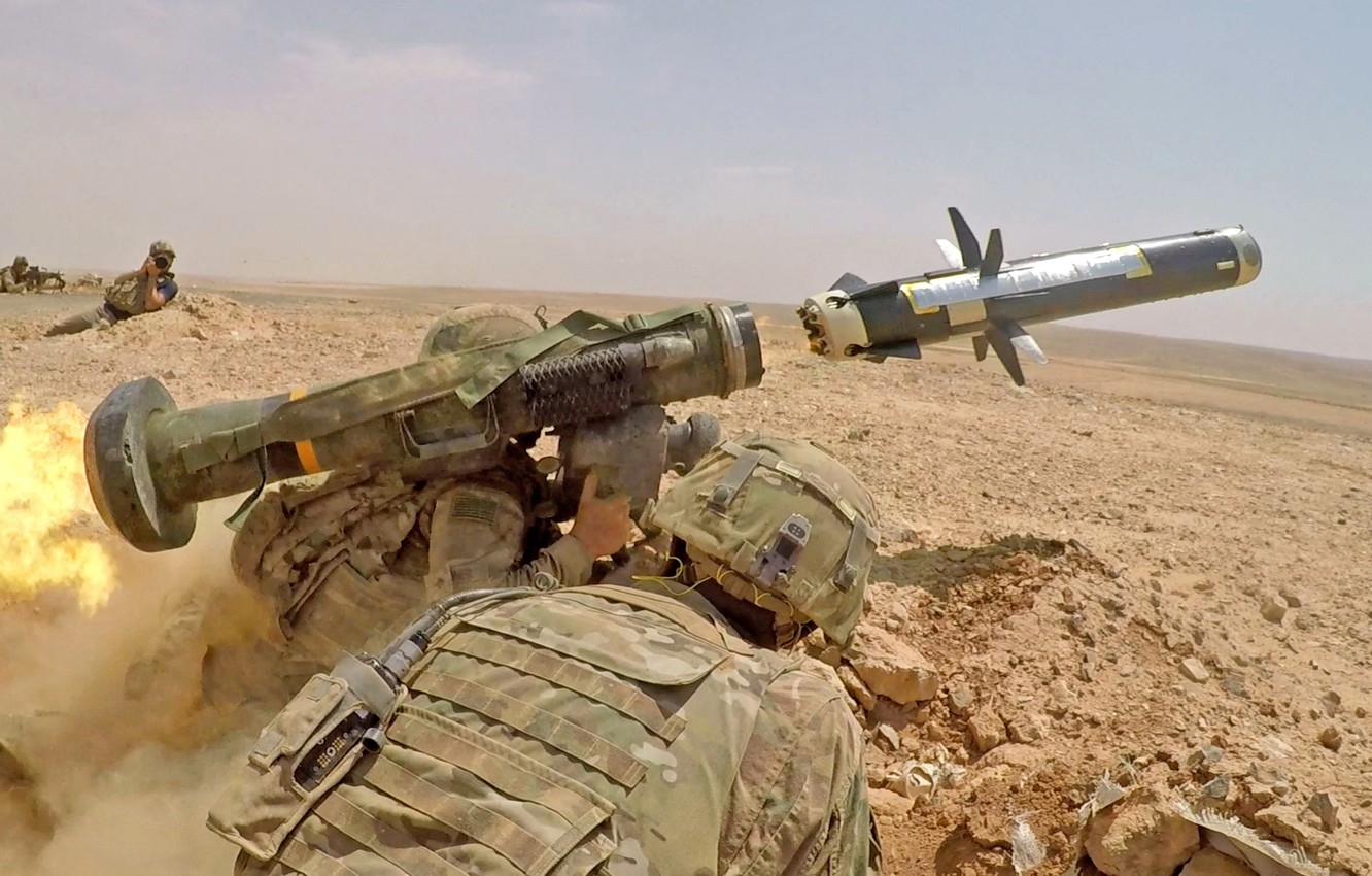 Photo wallpaper weapons, army, soldiers, javelin