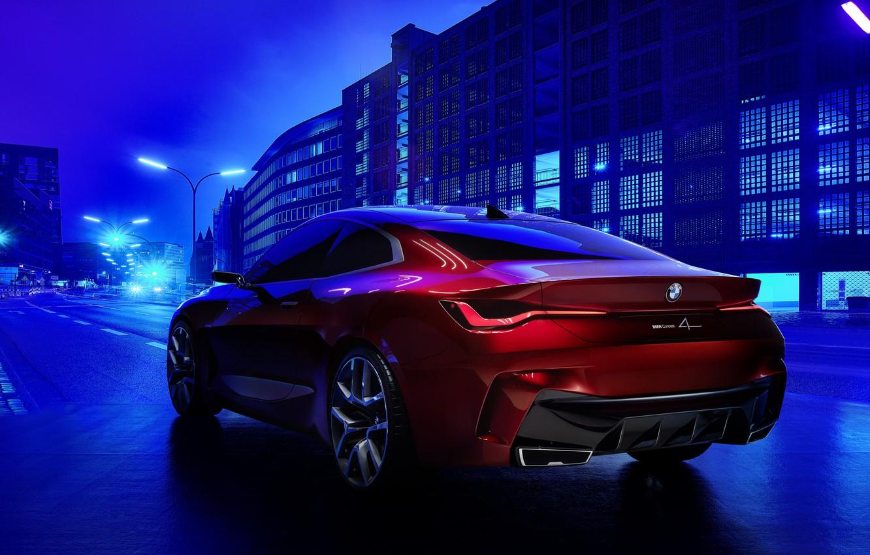 Photo wallpaper Concept, BMW, red, rad, BMW Concept 4, BMW Concept