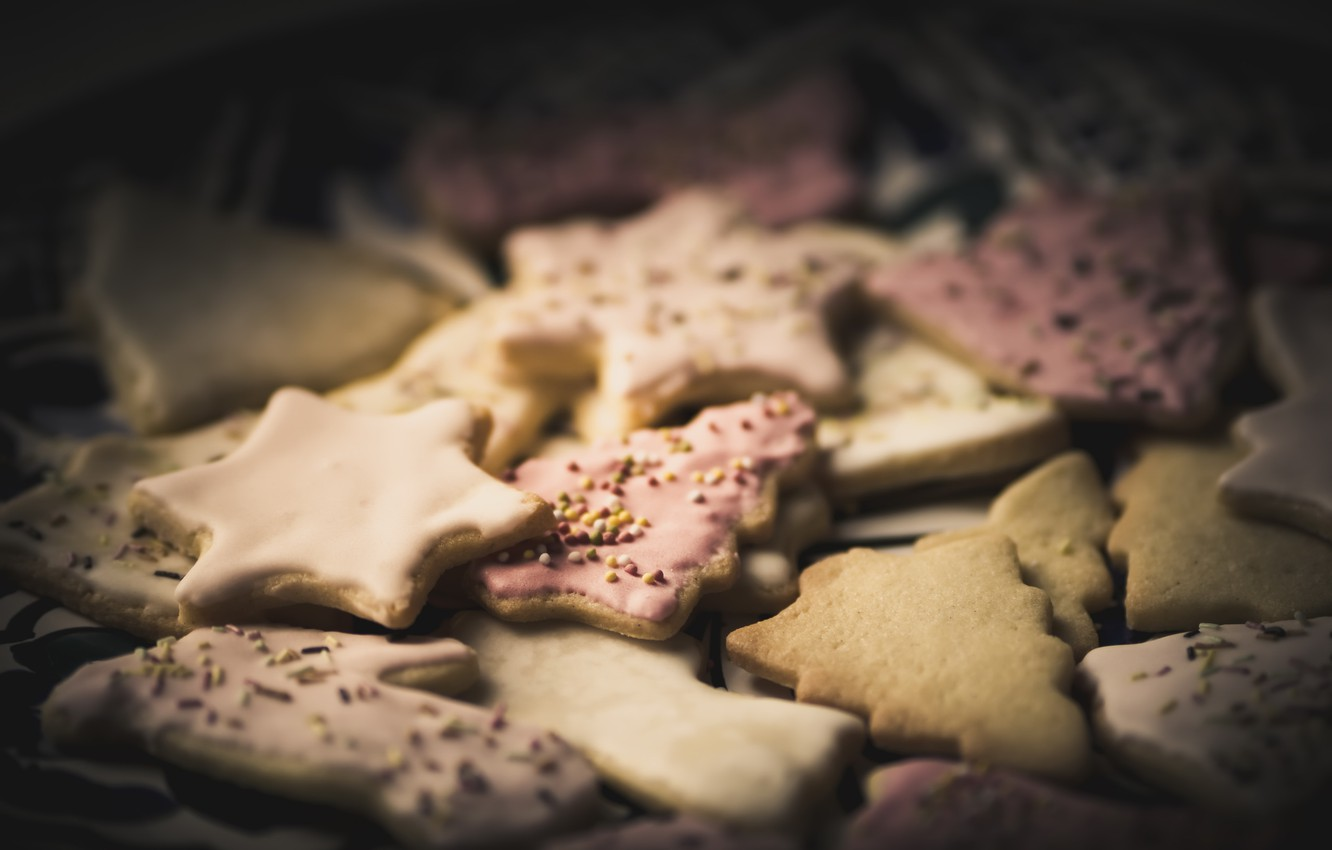 Photo wallpaper childhood, holiday, cookies, Association