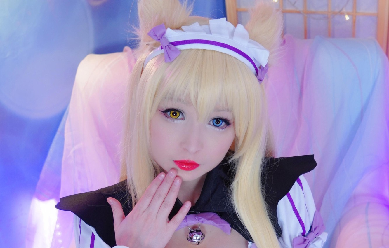 Wallpaper Girl Blue Eyes Beautiful Short Hair Model Pretty Cosplay Blonde Asian Attractive Handsome Yellow Eyes Coconut Nekopara Coco Chan Images For Desktop Section Devushki Download