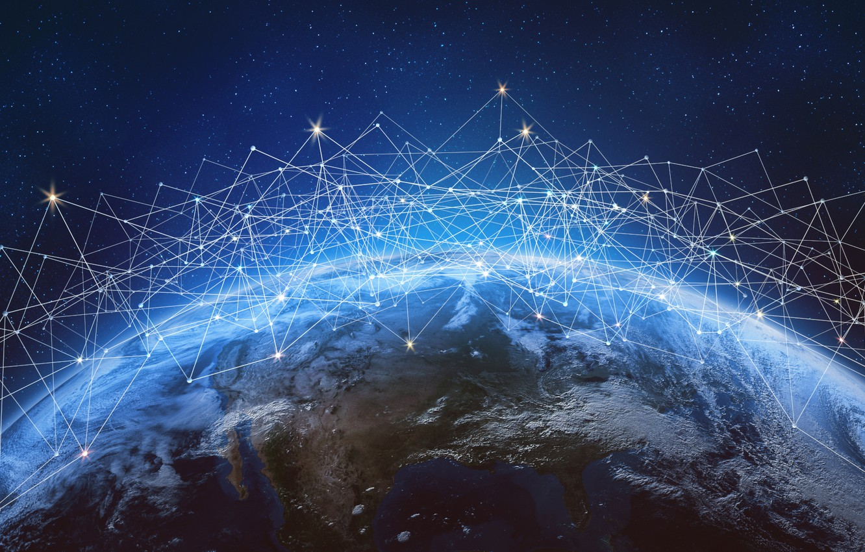 Photo wallpaper internet, lines, planet, communication, information, connectivity