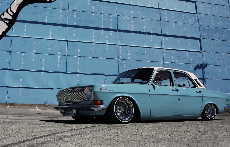 Photo wallpaper Lowrider, Custom, Volga, Russian car