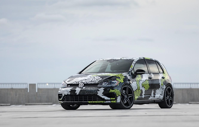 Photo wallpaper Volkswagen, Golf, 2018, Golf R, ABBOT, Abstract Concept
