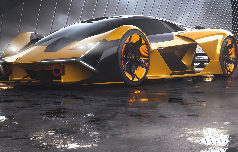 Photo wallpaper rendering, Lamborghini, supercar, front view, The Third Millennium