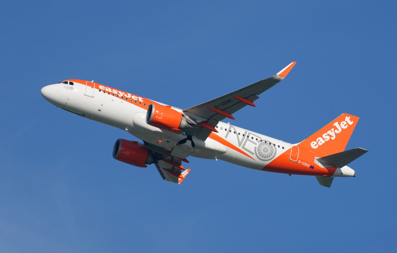 Photo wallpaper Airbus, A320-214, EasyJet Airline