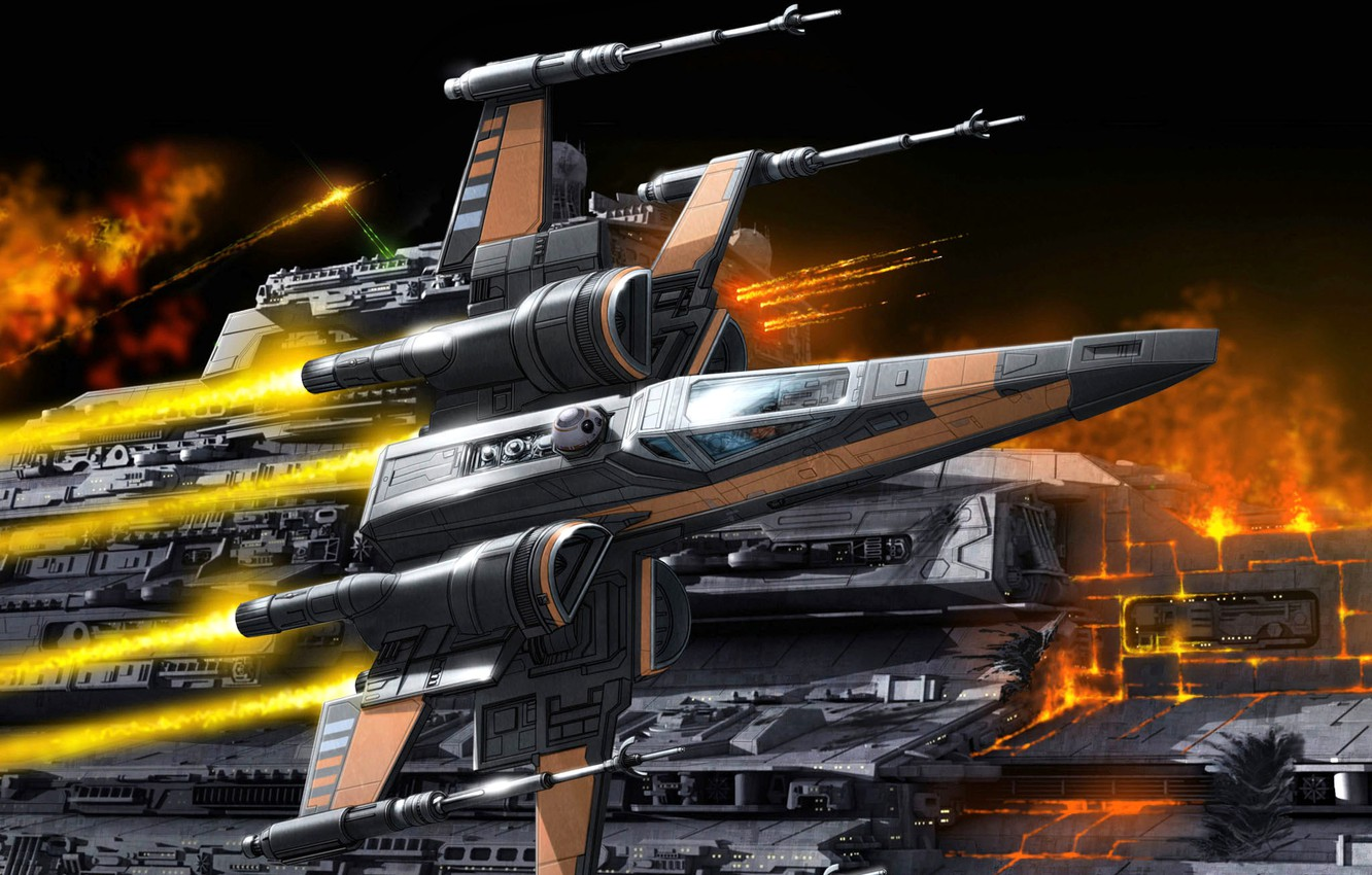 Photo wallpaper Star Wars, Spaceship, Fantastic, X-wing, Space, Rebel Alliance, T-65 X-wing, Star fighter