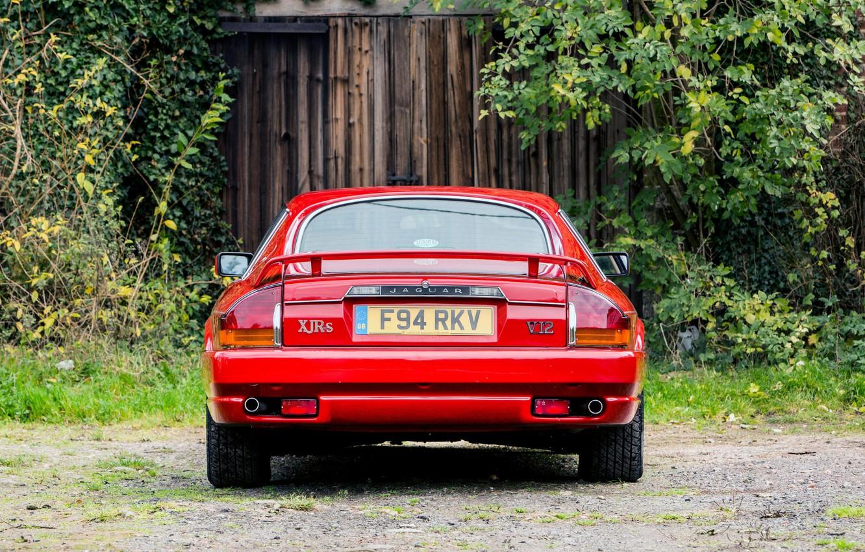 Photo wallpaper Red, Sportcar, Rear view, Jaguar XJR-S