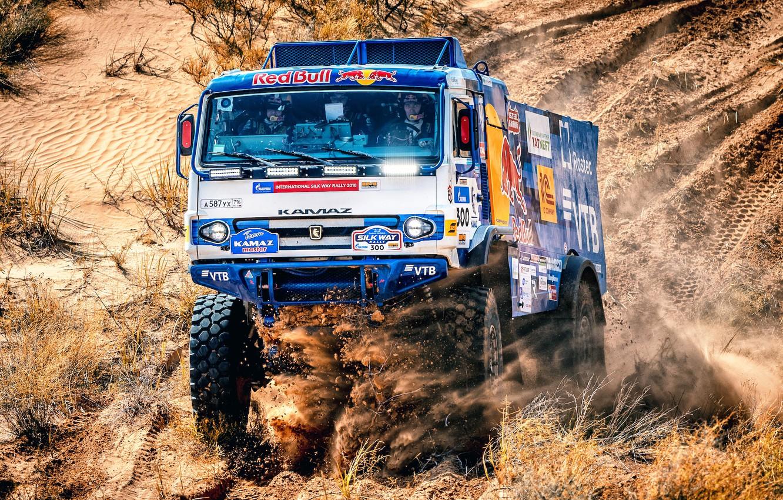 Photo wallpaper Auto, Machine, Truck, Race, Master, Lights, Russia, Cabin, 300, Kamaz, Rally, KAMAZ-master, Rally, KAMAZ, The …