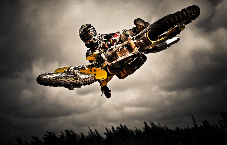 Wallpaper Jump Motorcycle Dirt Bike Extreme Sport Images For Desktop Section спорт Download