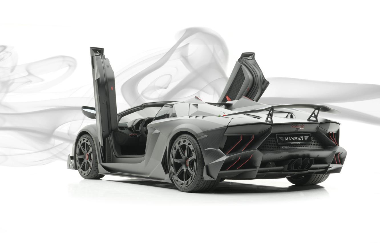 Photo wallpaper Roadster, Lamborghini, supercar, Aventador, Mansory, 2019, Carbonado Evo