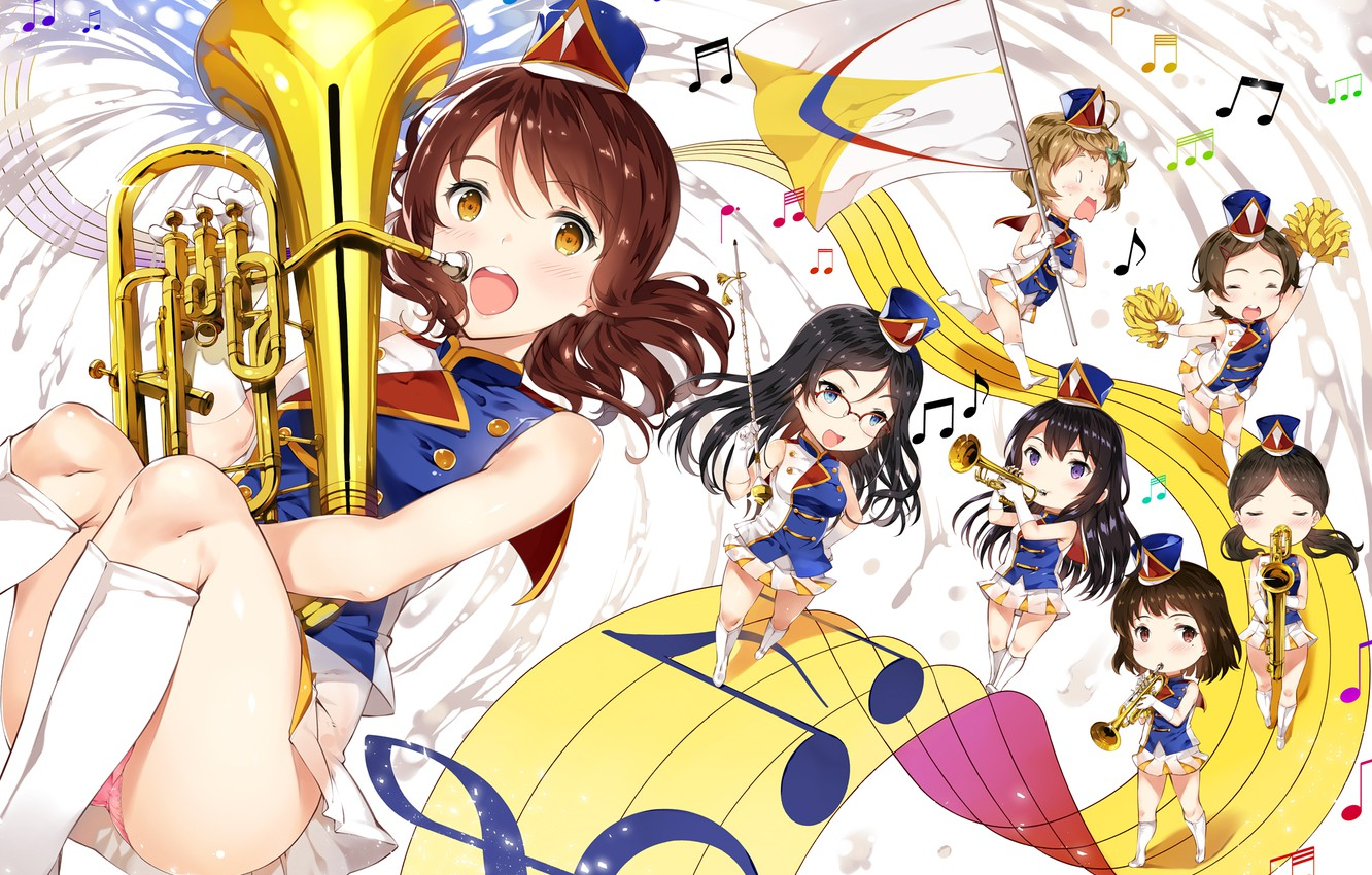 Photo wallpaper music, Girls, anime, hibike! euphonium