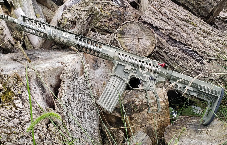 Photo wallpaper weapons, rifle, weapon, custom, ar-15, assault rifle, assault Rifle, ar-15, ar 15, ar 15