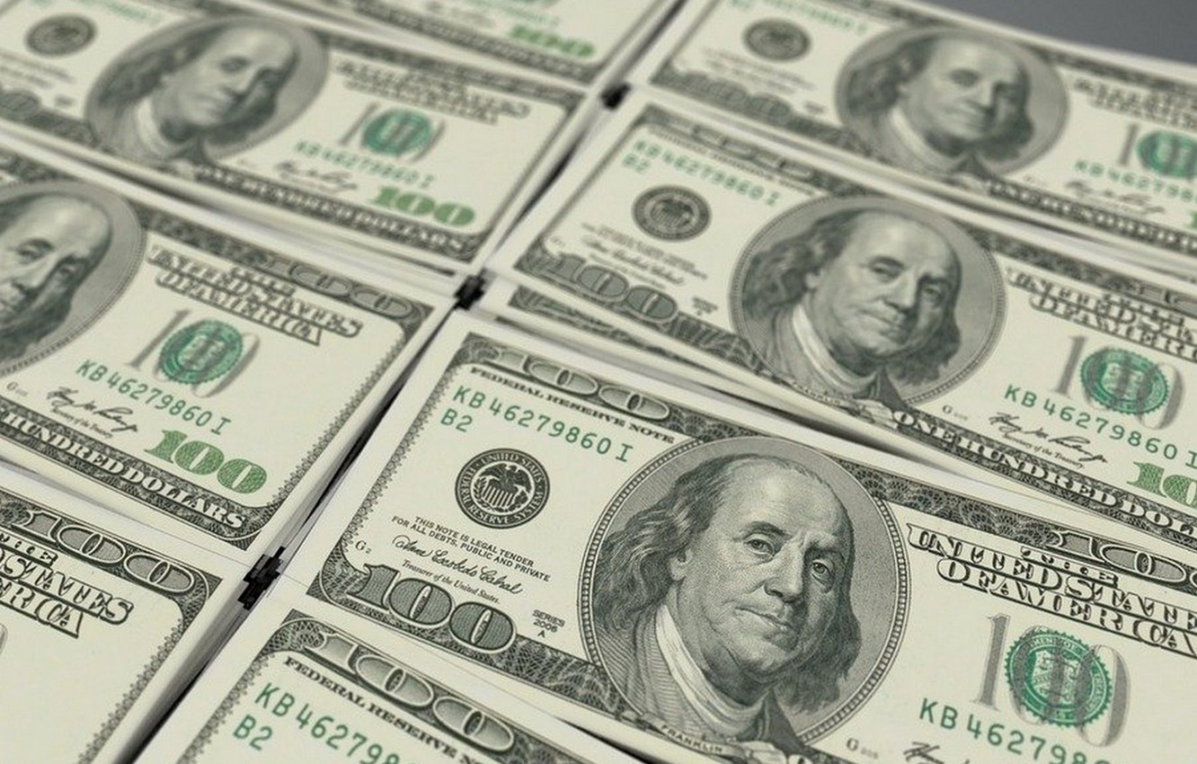 Photo wallpaper money, dollars, currency