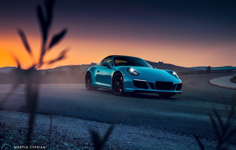 Photo wallpaper 911, Porsche, 2018, GTS, Targa 4, Martin Cyprian Photography